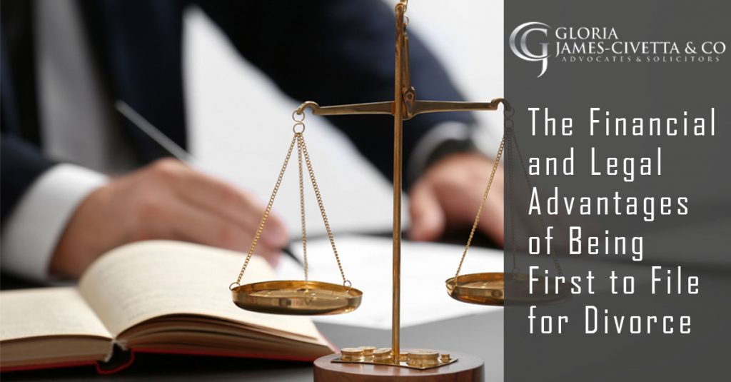 The Financial and Legal Advantages of Being First to File for Divorce